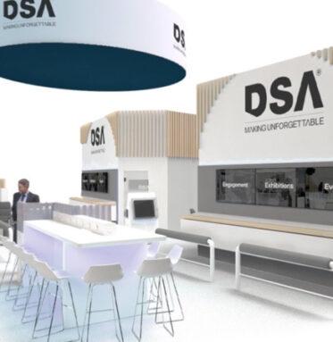 DSA 3D Render of event space,exhibition stands as well as trade show environments